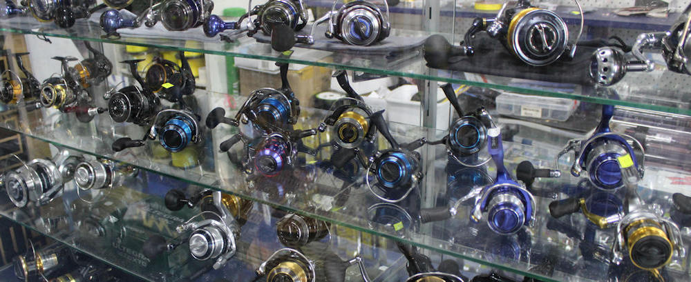 Reels, rods, tackle and bait at brighton tackle and Bait store